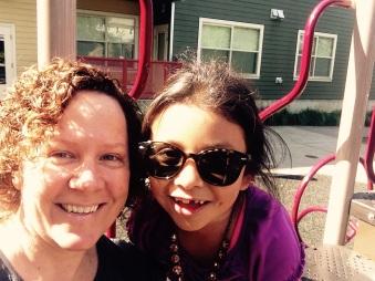 Deylli & Alison at park